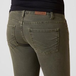 BKE Buckle Payton Green Skinny Jean 29 8 Repair